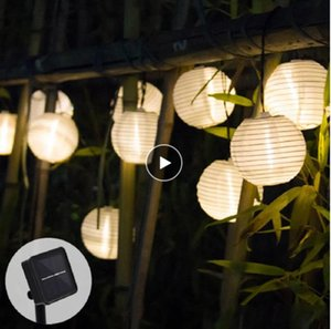Solar Light Outdoors LED Lantern Garland String Lamp Fairy Lights for Christmas Garden Decoration