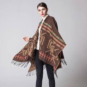Luxury Brand scarves shawls Pashmina Autumn Winter New Fashion Women & Wraps Imitation Cashmere Geometric Tassels Shawls