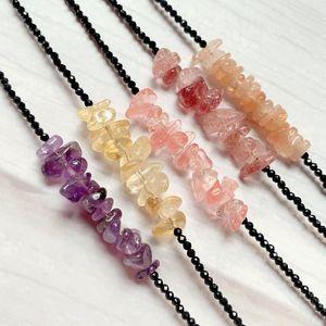 Натуральные лунные аметики аметисты цитрины кварцевые браслеты цветочные фишки рок хрустальный камень черный турмалин для женщин девочек бисером, пряди