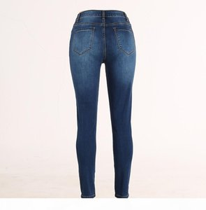 Ladies High Waist Jeans Stretch Hose Jeans Leggings Skinny Slim Pencil Pants Elastic Pantalon Mujer Vintage Womens