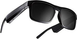 Marcos Tenor - Rectangular polarizado, Bluetooth Auriculares de audio Gafas de sol Negro