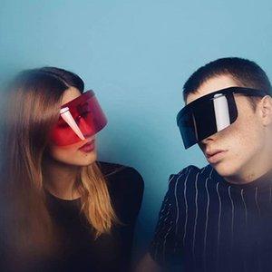 Rexxar 2021 Moda Gafas de sol Mujeres Hombres Marca Diseño Gafas Gafas de sol Gafas Big Frame Shield Visor a prueba de viento UV400