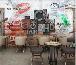 Wallpapers Custom Po Wallpaper For Walls 3d Mural Modern European Retro Nostalgic Cement Wall Brick Bar Restaurant Background