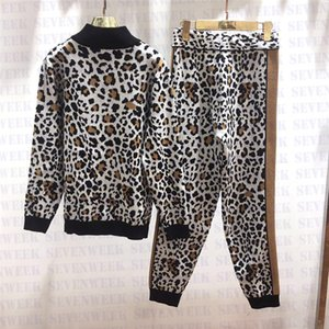 Womens Designer Tracksuits Leopard Print Sweatshirts Trousers Two Piece Set Fashion Casual Hooded Sports Suit For Female