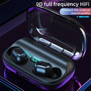 Bluetooth 5.0 Earphones 1800mAh Charging Box Wireless Headphone 9D Stereo Sports Waterproof Earbuds Headsets With Microphone Headphones &