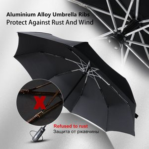Enhanced Aluminum Alloy Automatic Umbrella Men and Women Large Foldable Windproof Compact Dark Grille Handle Suitable for Travel