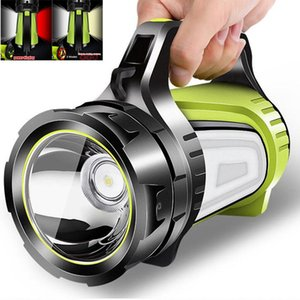 Flashlights Torches Super Bright Powerful USB LED Searching 2 Side Night Light Lamp Hand Camping Lantern Rechargeable Battery T1