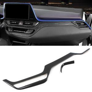 Accessoires de voiture Console Console Dashboard Panneau Travalier Sticker Cadre Décoration d'intérieur pour Toyota C-HR AX10 2016-2020