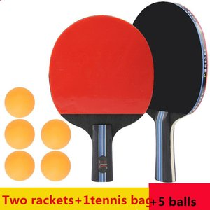 High Quality 3&4 Stars Table Tennis Rackets Double Racquets+5 -pong Balls For Beginners N4 Raquets