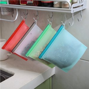 Silicone Food Preservation Bag Vacuum Sealer Bags Fridge Food Storage Container Freezing & Heating For Kitchen Food Fresh Bag GGA3250
