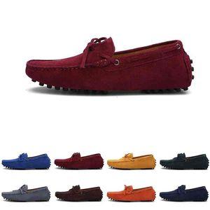 Мужчины повседневные туфли Espadriilles Triple Black Navy Brown Vine Red Green Khaki Orange Mens кроссовки Открытый бег прогулка шесть