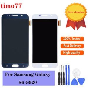 Оригинальные сотовые телефонные сенсорные панели для Samsung Galaxy S6 SOM Super Quality G920 G920F G920A ЖК-экран ЖК-дисплей Digitizer Собрание замена