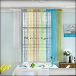 Curtain Deco El Supplies Home Gardencurtain & Drapes Syle Jacquard Design Window Sheer For Bedroom Tle Fabrics Living Room Modern Ready Made