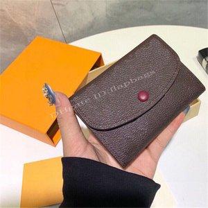 Fashion Practical Luxury Handbag Exquisite ROSALIE Designers Zero Wallet M41939 Multicolored Envelope Purse Snap Fastener Movable Lady Clutch Baga
