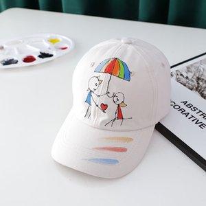 2021 새로운 스타일 재미있는 만화 인쇄 코튼 casquette 야구 모자 자식 소년과 소녀에 대 한 조정 가능한 Snapback 모자 163