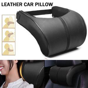 Car Neck Pillow,Car Leather Memory Foam Pillow Seat Head Rest Cushions Travel