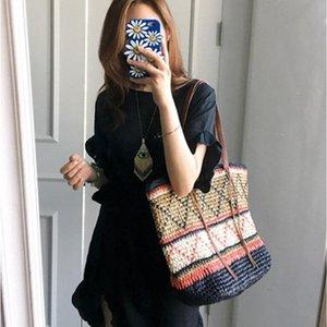 Сумка Messenger Женская солома кисточка для ручной ткани Пляжная сумочка льняная Национальный костюм соответствующий мешок основные женские сумки