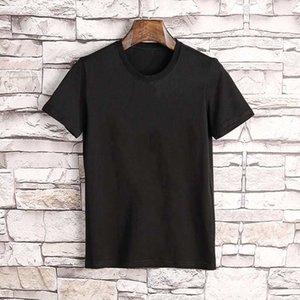 Мужская футболка Мода Топ Повседневная Мужчины Женщины Свободные буквы Письмо Печать Короткие рукава Летний Дизайнер Люкс --- A06