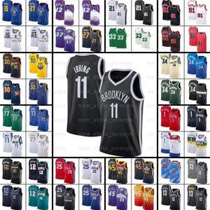 Kevin 7 Durant Kyrie Harden Irving Luka Basketbol Formaları Giannis JA Doncic Joel Dwyance Lillard Embi Wade Antetokounmpo Pippen Morant
