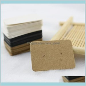 100Pcs 2.5X3.5Cm Blank Kraft Paper Ear Studs Card Hang Tag Jewelry Display Earring Favor Marking Garment Prices Label Tags Hxlfh N7Jit