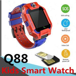 SmartWatch Niños GIFE GUFIO Cuerpo giratorio de 360 grados Tarjeta SIM CALL SOS SOS KIDS SMART TELEFONO WATCH Y88 CAMERAS TOMAR FOTOS BLUETOOTH IP67