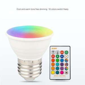 RGBW Led Night Lights E27 GU10 GU5.3 Bulb Light AC 85-265V Lampada Changeable Colorful Lamps Lighting With Remote