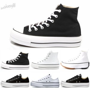 Chuck All Star Women Shoes Platform Clean High Top Low Heel Black Sneakers Casual Fashion EUR 35-40