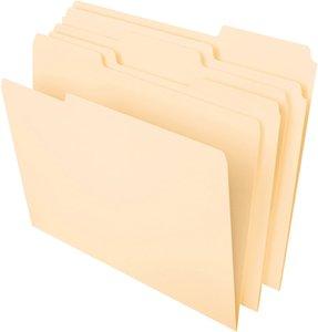 """Pendaflex dosya klasörleri, mektup boyutu, 8-1 / 2 """"x 11"""", 1/3-kesim Sol, Sağ, Merkez pozisyonları Klasik Manila 100 Kutu"""