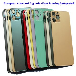 Top quality European standard Big hole Glass housing Integrated for iphone 8 Plus X XR XS 11 12 Pro Max Rear Door Case Replacement Back housings cover