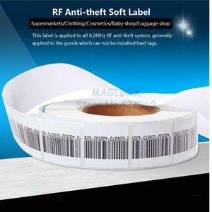 1000pcs roll 8.2MHz RF Soft Label , Security Anti-theft Tags ,RF Barcode Stickers ,EAS System Alarm Systems