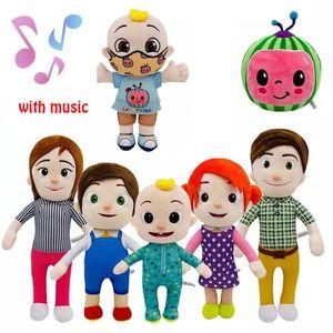 15-33cm Cocmalon Spielzeug Plüsch mit Musik Cartoon TV Series Familie JJ Schwester Bruder Mutter und Papa Spielzeug Dall Kinder Geschenk Gefüllte Puppe