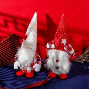 Christmas Gnomes Plush Decorations Handmade Scandinavian Tomte Nordic Nisse Home Household Ornaments DWB11201