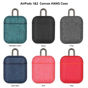 Colorful Canvas Cloth Earphone Case For Airpods Reserved Charging Hole Retro Full Protective Cover