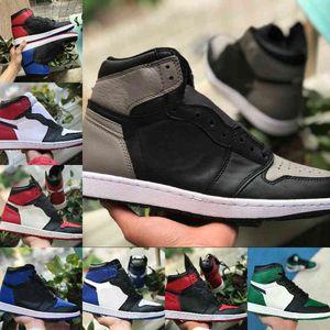 Air Jordan 1 retro jordans  Nike 2021 NUEVO 1 1S Zapatos de baloncesto Hombres Mujeres Tormenta Azul Verde Game Royal UC Patentía Patente Púrpura