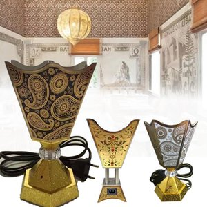 Weihrauchbrenner Arabischer islamischer Stil Mini Electric Bakhoor Square Pearl Metal Home Duftlampen