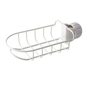 Stainless Steel Kitchen Faucet Holder Adjustbale Sink Caddy Organizer Soap Brush Dishwashing Liquid Drainer Brush Storage Rack HWF5925