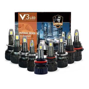 2PCS V3 Led H1 H3 H4 H7 H11 H13 9004 9005 9006 9007 881 Car Headlight Auto Fog Lamp 35W 3500LM Automobile Bulb White 6000K