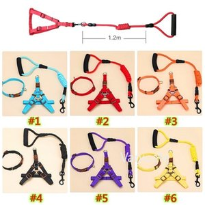 Dog leashs Traction Rope Pet Harness Small Large Dogs Pull Adjustable Dog-Leash Running Leash Training Collar Harness T9I001469