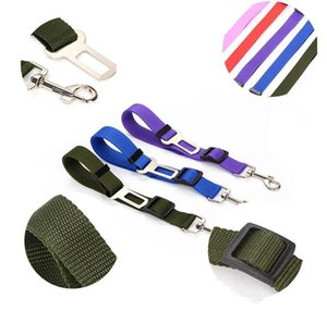 New Dog Pet Car Safety Seats Belt Seat Clip Seat belt Harness Restraint Lead Adjustable Leash Travel Collar dog set belt Seat belts Harness