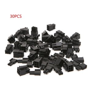 30 Pcs 4.2Mm 6 + 2 Pin Male Power Connector Plastic Shell for Pc Graphic Map Pci-E 40JA