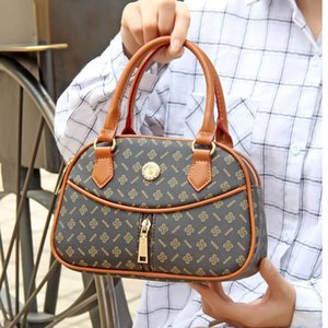 Fashionable Middle-aged and Elderly Mother's Bag Leisure Handbag Shopping Small Printed Round Simple Mobile Phone Zero Walletwallet