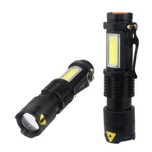 Flashlights Torches 6 10 Pcs COB Q5 LED 4 Modes Camping Hunting Tactical Lighting Ultra Zoom Waterproof Handheld Light