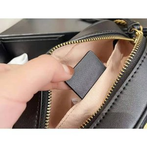 High quality women purse small black camera bag Genuine Leather Zig Quilted heart disco Mamont chain crossbody Fashion Handbag Shoulder Cross Body Bags