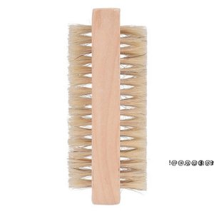 newWood Nail Brushes Two sided Natural Boar Bristles Wooden Manicure Dual Surface Hand Cleansing Brush EWB6281