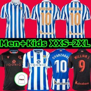 TOP Real Sociedad 2020 21 DAVID SILVA OYARZABAL LOPEZ PORTU Maglie da calcio camiseta de futbol anniversario Uomo Bambini Kit per adulti Camicie