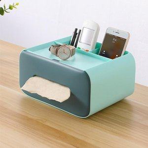 Tissue Boxes & Napkins Multifunctional Household Box Remote Control Storage Creative Cute Drawer Type Cosmetic