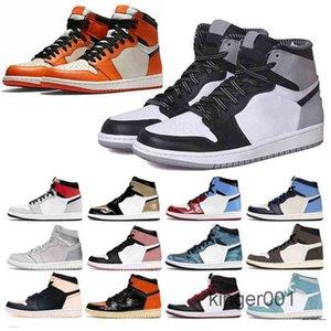 Pin chaud vert noir 1s Basketballs chaussures Jumpman 1 Snefline Hommes Sneakers Sneakers Sneakers Fearless Unc Brevet Or Black Tee Top GT9F