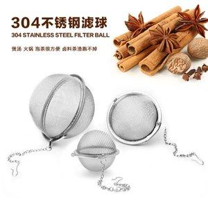 DHL FedEx 200pcs / Lot en acier inoxydable Tea Pot Infuser Sphère Sphere Mesh Filmeur 5.5cm D 439 S2