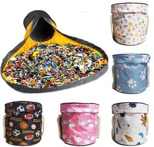 Jouets Sac de rangement Toybags Blocs Play Tapis Sacs Jouets Slideaway Nettoyage et Lego StorageContainer Organisateur Panier multifonctionnel GWB5996