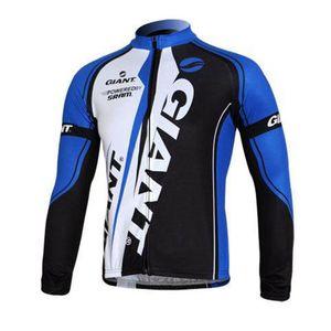 Pro Team Giant на велосипеде с длинным рукавом Jersey Mens MTB велосипедная рубашка осень дышащие быстрые сухие гоночные вершины дорожные велосипеда одежда на открытом воздухе Sportswear Y21042207